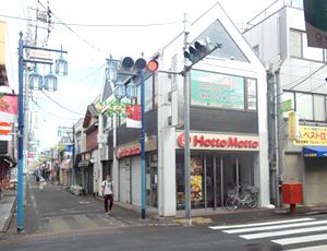 『三軒通り(仲六バスの通り)』交差点